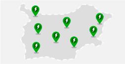 Mapa con estaciones de carga