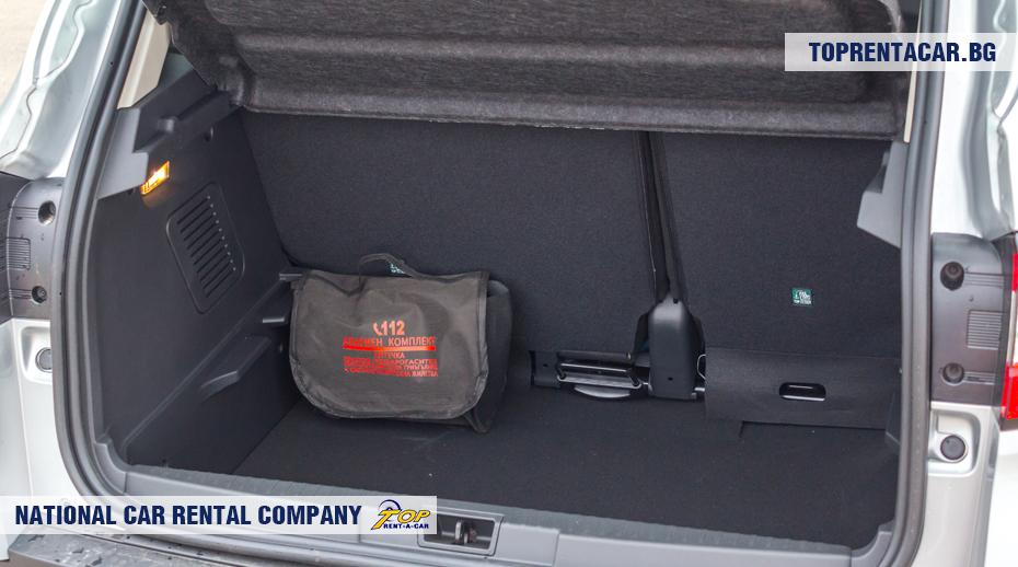 Renault Captur - vista del maletero