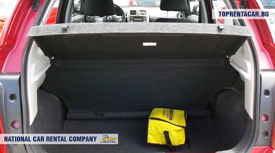 Nissan Micra - Vista del tronco
