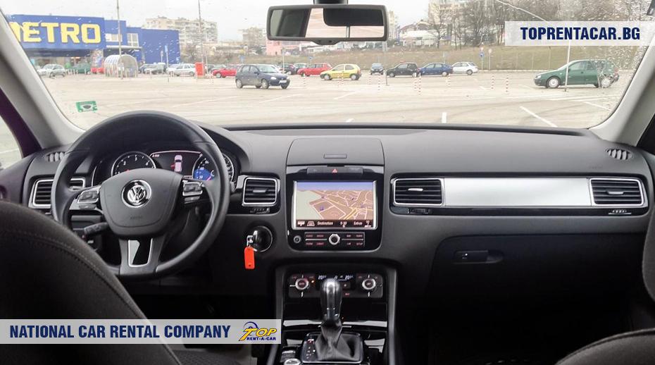 VW Touareg - vista interior