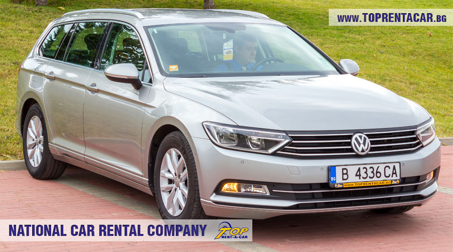 VW Passat estate - front view