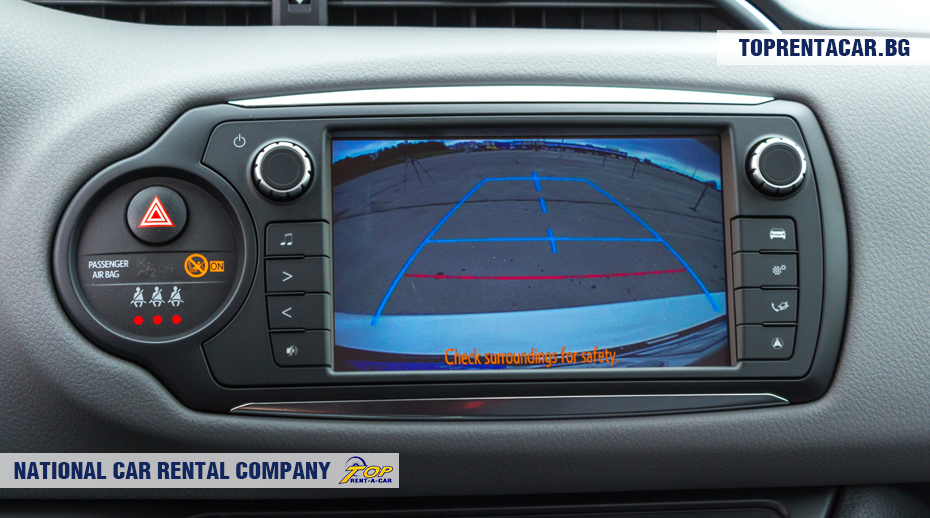 Toyota Yaris - cámara de visión posterior