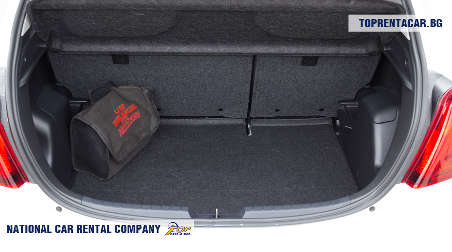 Toyota Yaris - vista del maletero