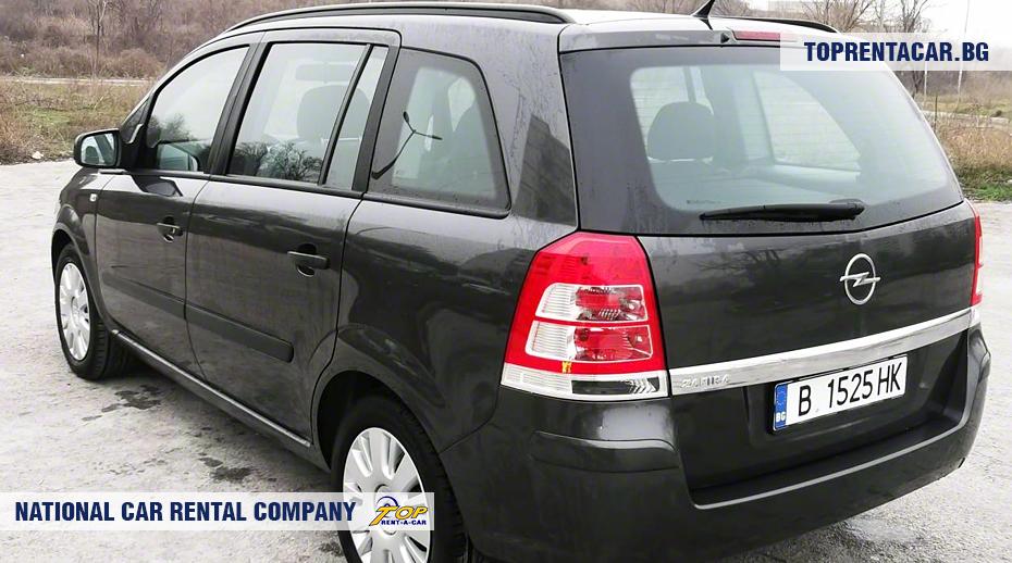 Opel Zafira - Vista posterior