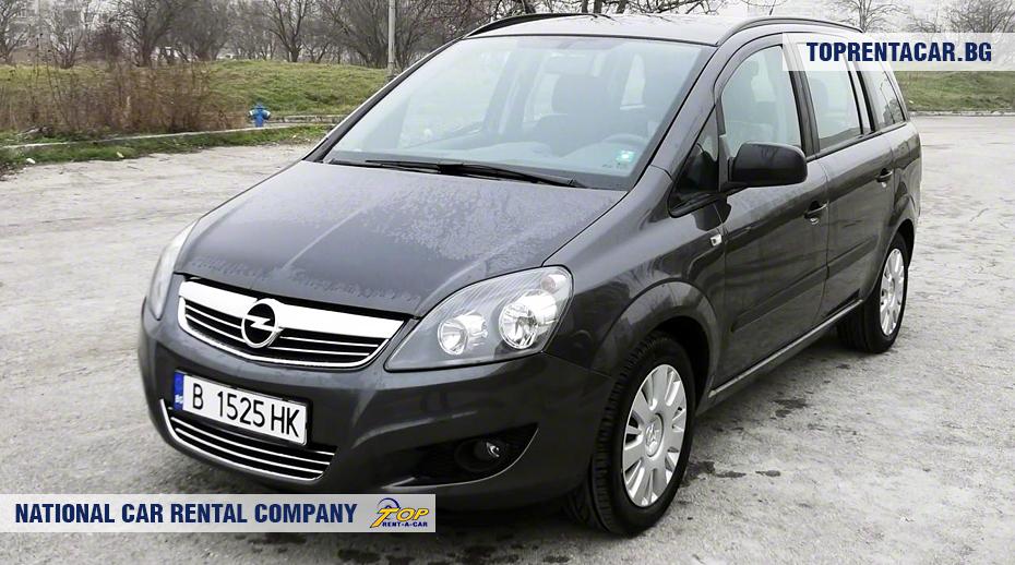 Opel Zafira - Vista frontal