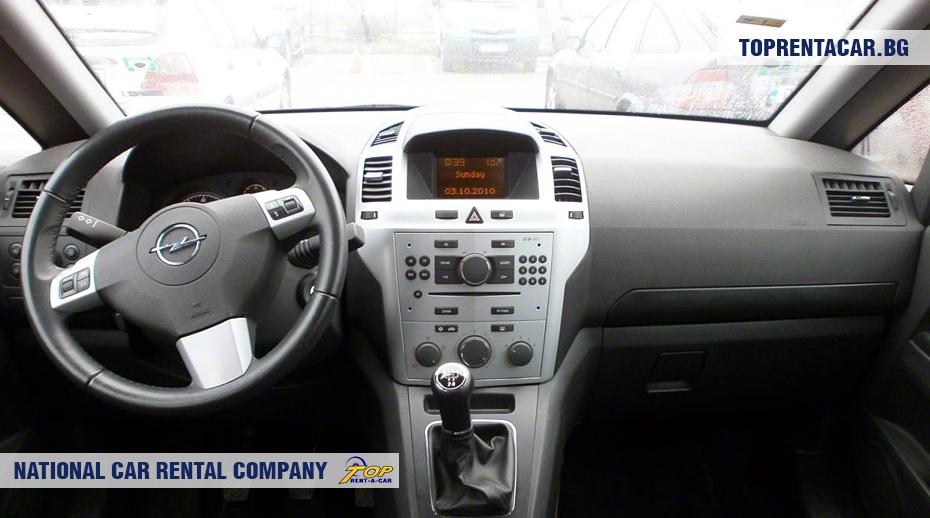 Opel Zafira - Vista interior