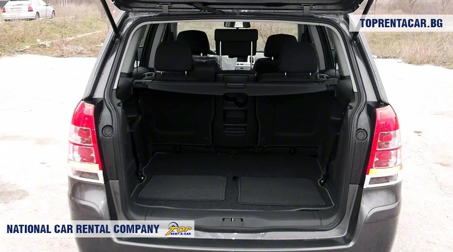 Opel Zafira - Vista del tronco
