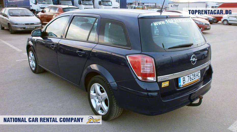 Opel Astra - Vista posterior